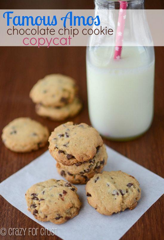 Famous Amos Copycat Chocolate Chip Cookies | crazyforcrust.com | #cookie #chocolate #copycat