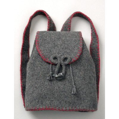 Felted Flannel Backpack | Yarnspirations | Easy pattern | Patons | Back to School |
