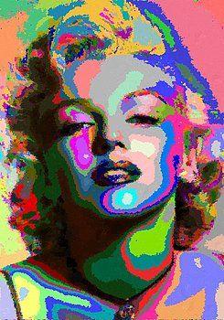 Samuel Majcen - Marilyn Monroe - Abstract 1