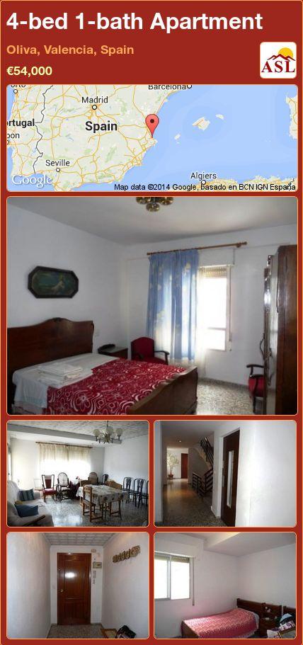 4-bed 1-bath Apartment in Oliva, Valencia, Spain ►€54,000 #PropertyForSaleInSpain