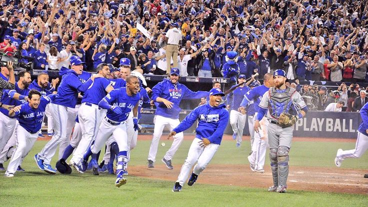 The Toronto Blue Jays storm the field as they sweep the Texas Rangers and head to the ALCS