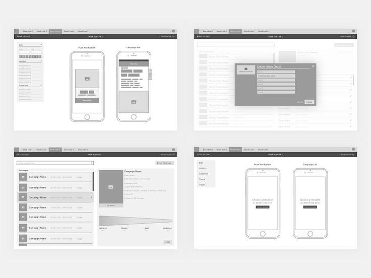 [WIP] Web App Wireframes
