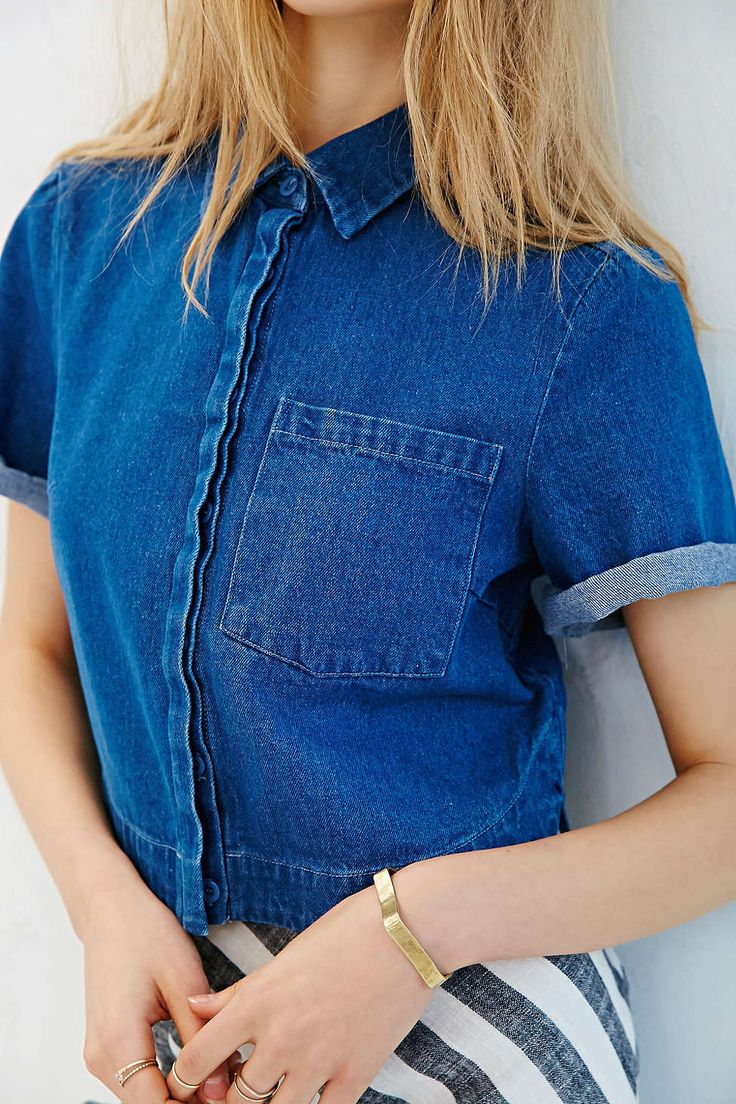 The Fifth Label On The Horizon Top - Urban Outfitters | #UODenim | Pinterest | Urban outfitters ...
