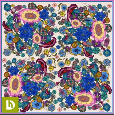 'Flowers' Silk Scarf | The Design House