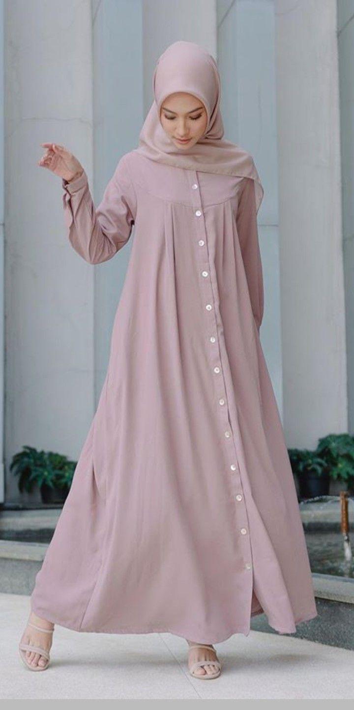 Gamis kemeja  Model pakaian hijab, Gaya model pakaian, Model baju