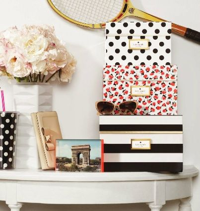 Put a lid on it with KATE SPADE NEW YORK storage boxes from the @THE ORGANIZING STORE #pintowin