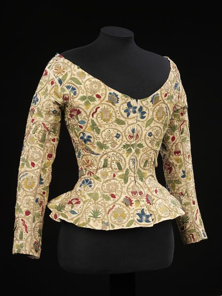 Jacket, 1600-1625 England Linen , embroidered with silk and metal thread, and spangles | V&A Search the Collections