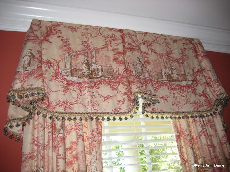 Pinterest Decorating With Toile: Chinoiserie Toile Valance With Turban Tassels