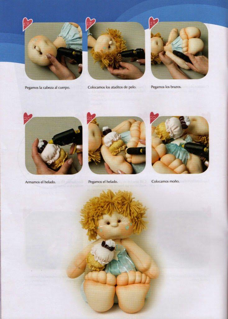 Revistas de manualidades gratis: como hacer una muñeca soft