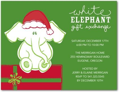 best images about white elephant gift exchange on, ugly sweater white elephant party invitations, white elephant christmas party invitations, white elephant christmas party invitations free