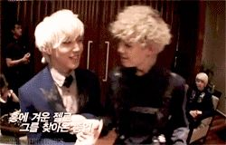 Zelo and Jongup. Idk what this is, but it's a good thing:)