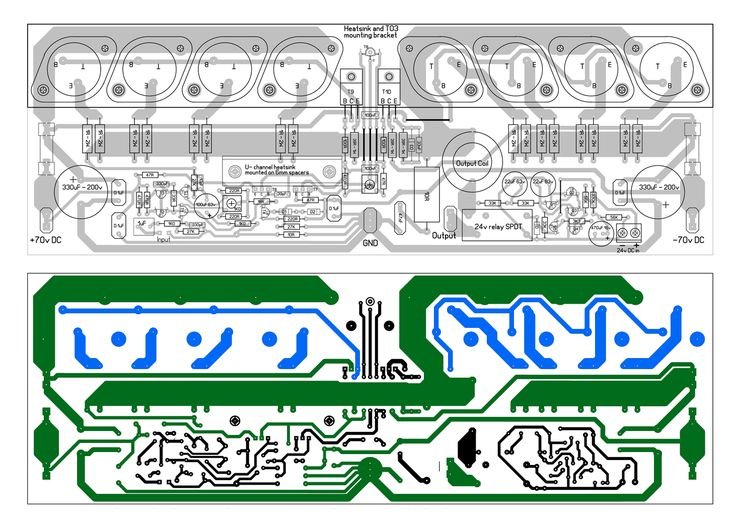 PCB layout 300W high power amplifier