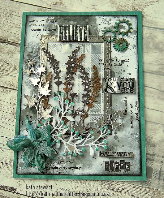 card made for Simon Says Stamp Monday Challenge - Shimmer and Shine