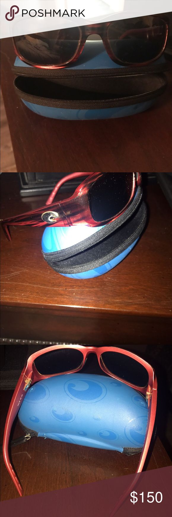 Women Costa Del Mar Sunglasses Women Costa Del Mar sunglasses. This pair is the vela style. I absolutely loved these but I got a new pair, so I'm letting these go. Perfect condition. Comes with the case. 😊 price is negotiable Accessories Sunglasses