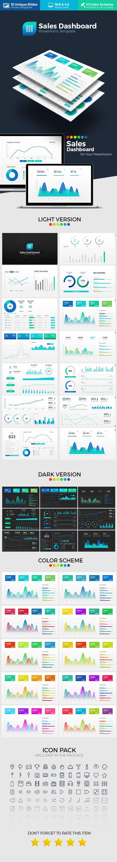 Sales Dashboard PowerPoint Template #powerpoint #presentation Download : https://graphicriver.net/item/sales-dashboard-powerpoint-template/17728338?s_rank=4?ref=BrandEarth
