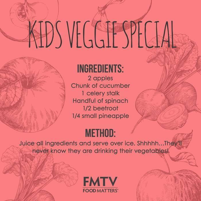 If you can't get your kids to eat veggies then try this special juice packed full of nutrients and veggies that they will never know about. https://www.fmtv.com/watch/kids-veggie-special  #FMTV #FMTVofficial #FoodMatters #Juice #Kidsrecipes