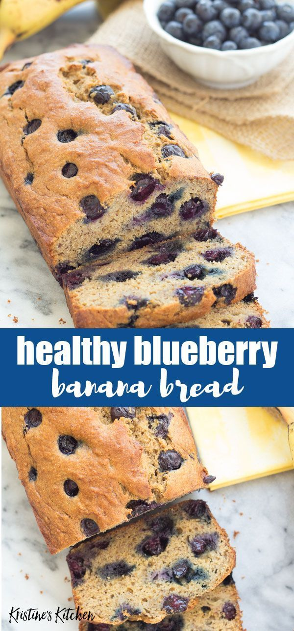Our Favorite Healthy Blueberry Banana Bread Recipe So Quick And Easy To Make A Simple Recip Blueberry Banana Bread Banana Bread Recipes Healthy Bread Recipes