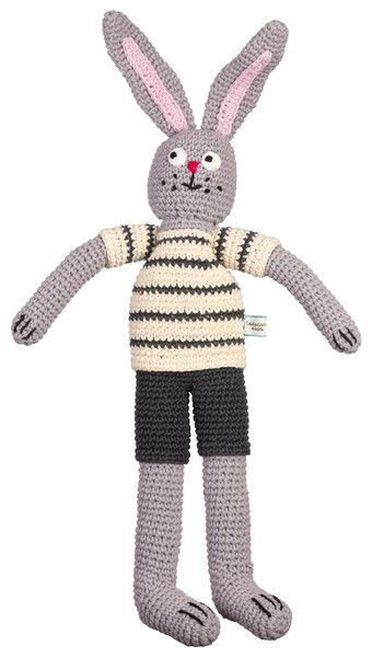 who doesn't love a hand crochet bunny