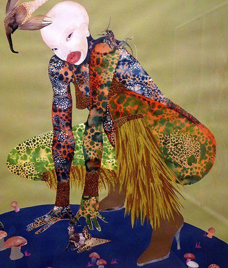Detail from Riding Death in My Sleep by Wangechi Mutu. Courtesy: Chiwoniso Kaitano http://www.theguardian.com/world/2013/nov/13/wangechi-mutu-art-afrofuturism