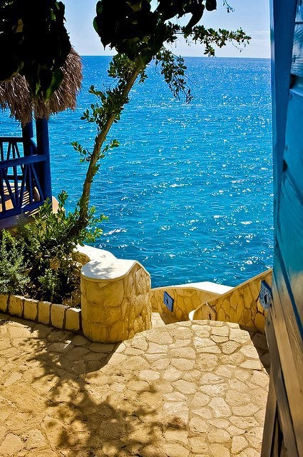 Stairs to the Sea, Negril, Jamaica  Photo ~ The Camera Eye   www.icreatived.com — with Jennifer Ashby.