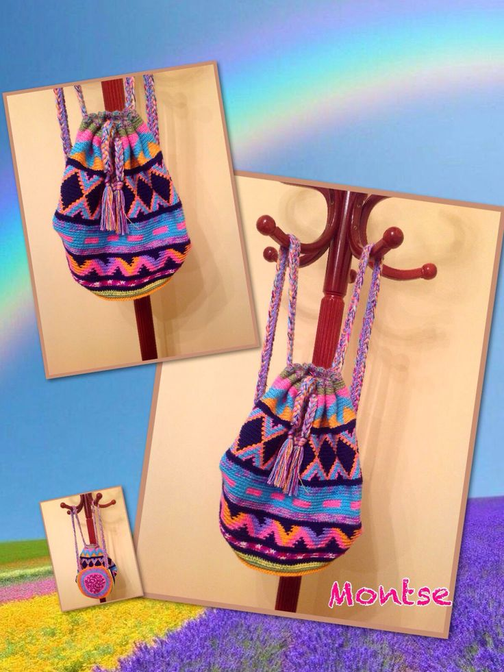 Mochila crochet tipo wayuu
