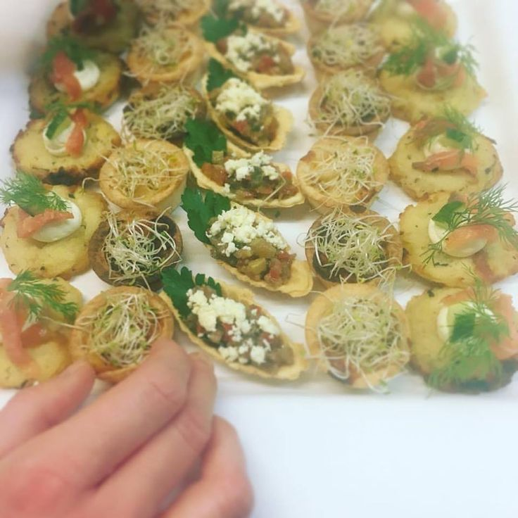 It's so hard to decide! Ratatouille tarts with feta in short crust pastry or Rosti with smoked trout and creme fraiche #yummyfood #canapés #catering #brisbane #birthday #party