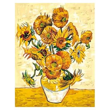 tapiz de petit point de seg de flores girasoles de van gogh