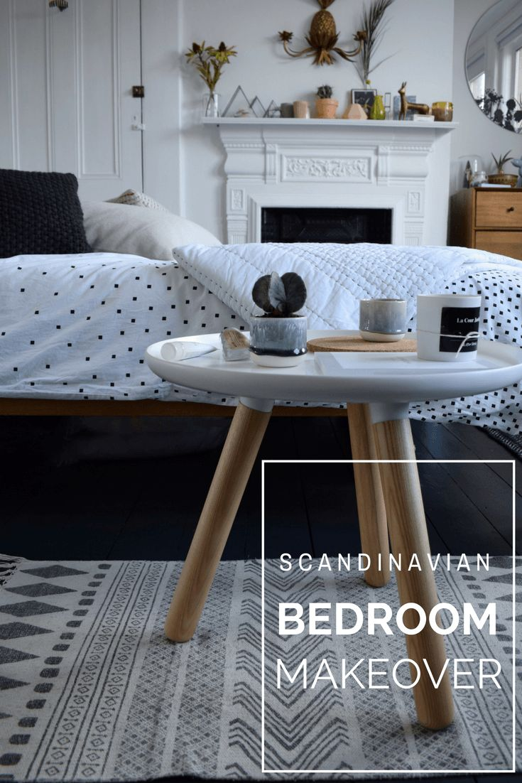 ideas and inspiration home decor - Scandinavian bohemian white and soft tones natural elements bedroom normann tablo