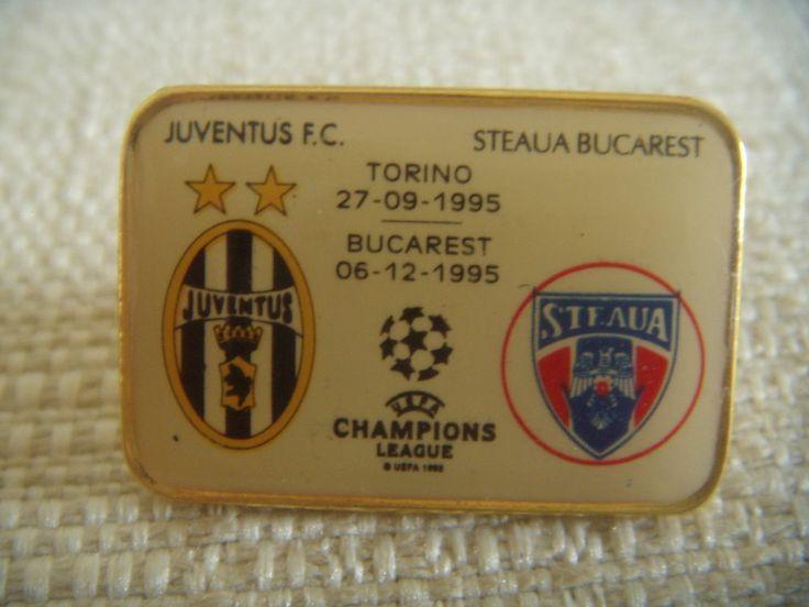 DISTINTIVO CALCIO JUVENTUS - STEAUA BUCAREST BUCURESTI CHAMPIONS LEAGUE 1995