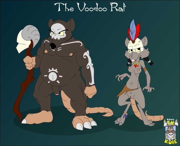The Voodoo Rat by TooieAndKoie Tooie: First off: this has to be the best drawing Koie ever did. I really love the detail that went into it. I did ask him to draw this, and it was because I had been thinking on the concept of voodoo rats lately. The concept intrigued me and I have to say that this picture pretty much depicts what I had imagined--and then some! What do ya think?! #body_paint #face_paint #female #loin_cloth #male #mask #musclegut #naked #nude #old #rat #rodent #skull #staff…