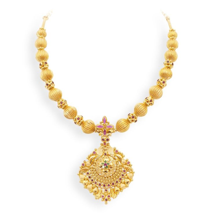 Necklaces | Modern and Stylish Gold Pendant Attached with ...
