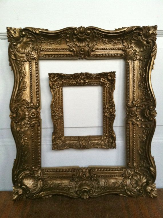 vintage ornate gold frame set