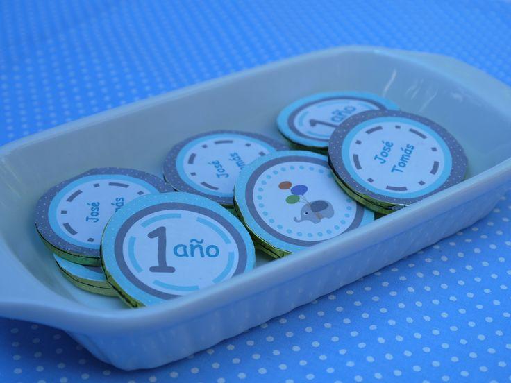 Candy Bar monedas de chocolate personalizadas.