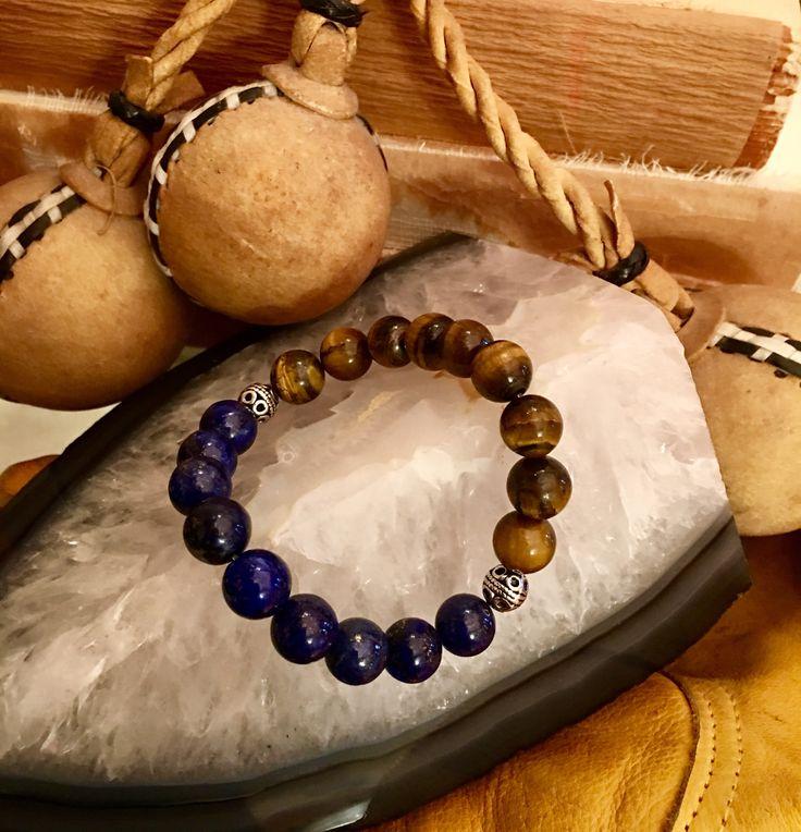 Lapis Lazuli + Tigers's Eye Power Bracelet