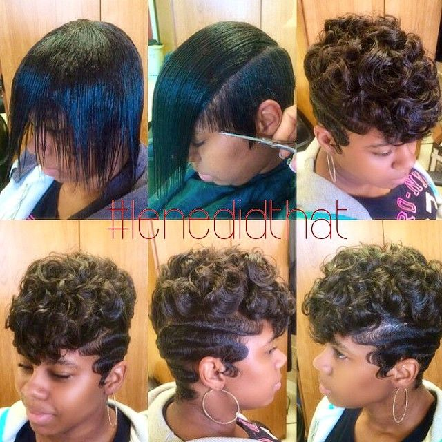 STYLIST FEATURE  Love this #pixiecut✂️ #transformation done by #SanfordNC stylist @MyVision4Me Soft curls and waves❤️ #VoiceOfHair ========================= Go to VoiceOfHair.com ========================= Find hairstyles and hair tips! =========================