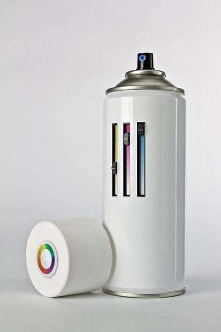 CMYK spray paint