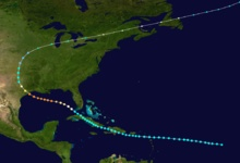 Path of the 1900 Galveston Hurricane