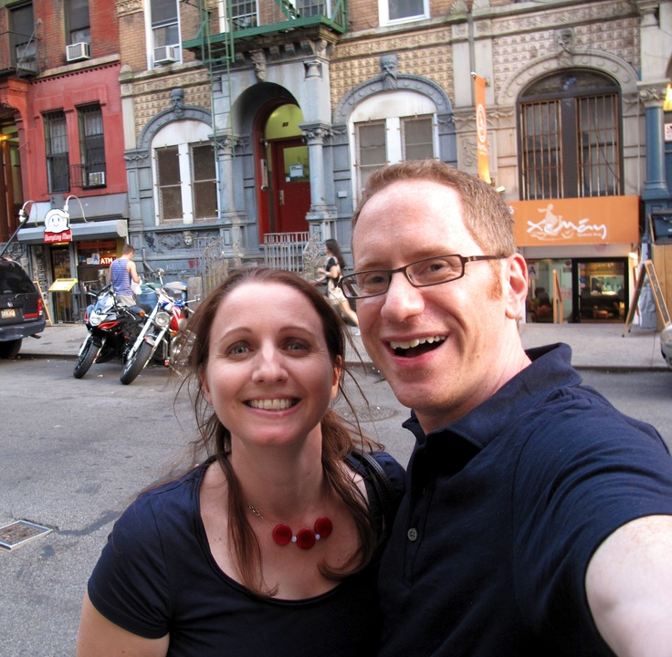 Joanna Penn with Jim Hopkinson, author, speaker & blogger. In the East Village, New York.