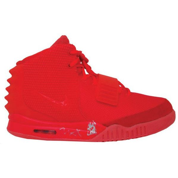 Kanye West Autographed Nike Air Yeezy II 2 Red October | Sole... ❤ liked on Polyvore featuring shoes and sneakers