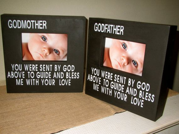 personalized godmother godfather godparent gift godparent picture frames wood painted box sign frame gift for godparents