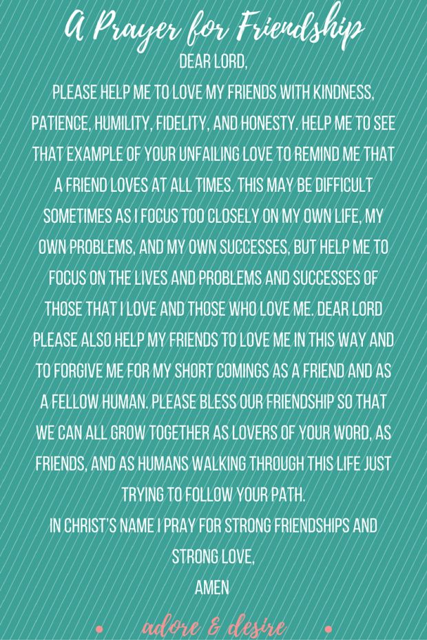 A Prayer for Friendship