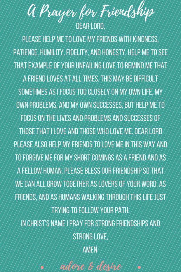 A Prayer For Friendship Power Of Prayer Prayer For
