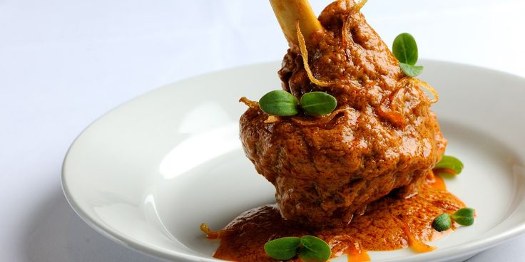 This slow-cooked lamb shanks recipe from Indian born chef, Alfred Prasad, is given fragrance by an infusion of Indian spices