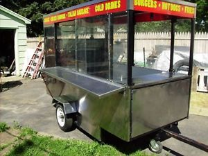 Concession Hotdog Cart Hot Dog Vending Trailer Trailers