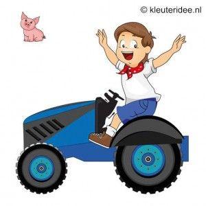 Spel 6:Tractorrace, speldag thema boerderij voor kleuters, kleuteridee.nl , farm games for preschool field day.