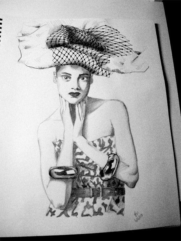 pencil sketch by Brianna Buza