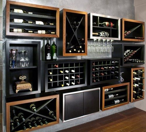 great idea for wine bottle storage..