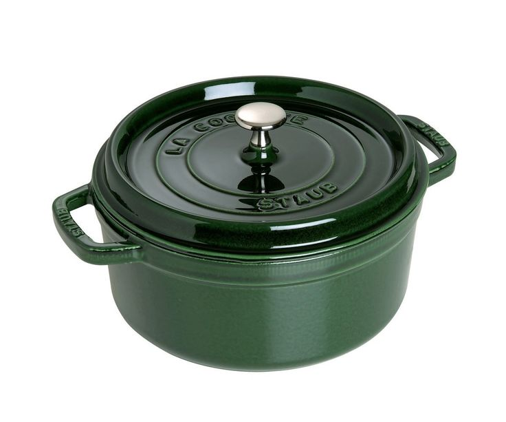 Staub 5.5 Quart Round Cocotte, Basil >>> You can find out more details at the link of the image.