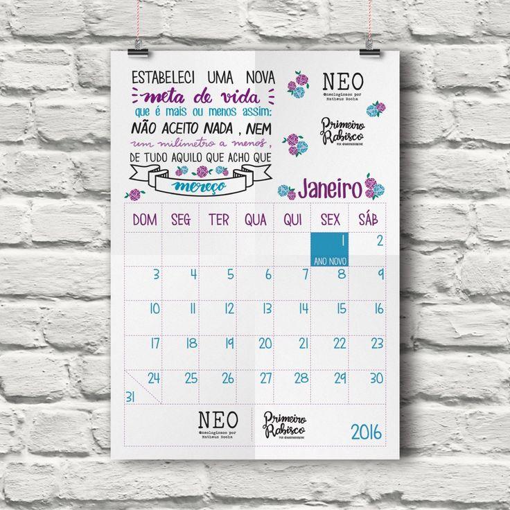 Calendário 2016 - Primeiro Rabisco e outros artistas