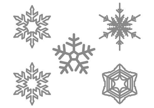 雪の結晶 イラスト
